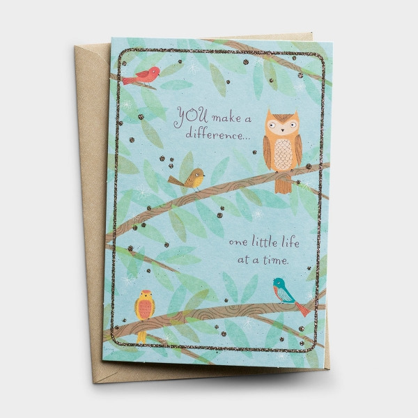 Ministry Appreciation - Children's Ministry - One Little Life at a Time - 1 Greeting Card - KJV