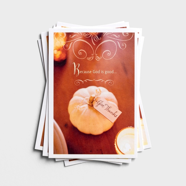 Thanksgiving - Because God Is Good - 6 Note Cards