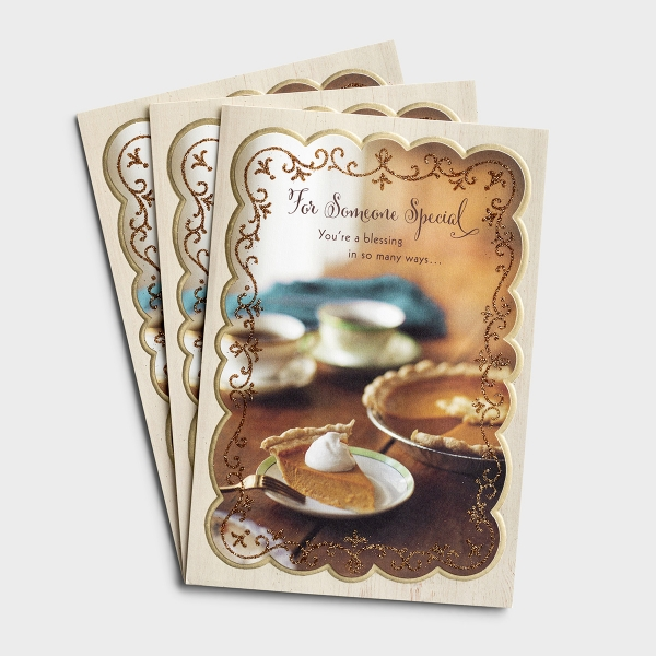 Thanksgiving - For Someone Special - 3 Premium Cards