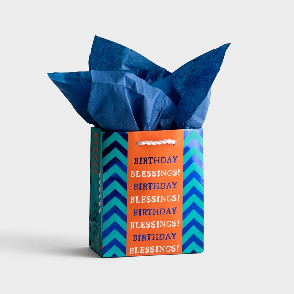 Birthday Blessings - Small Gift Bag with Tissue