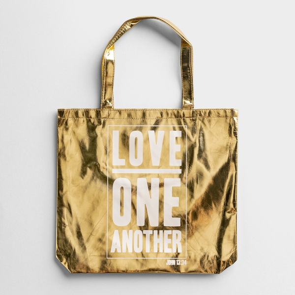 Love One Another - Gold Tote Bag