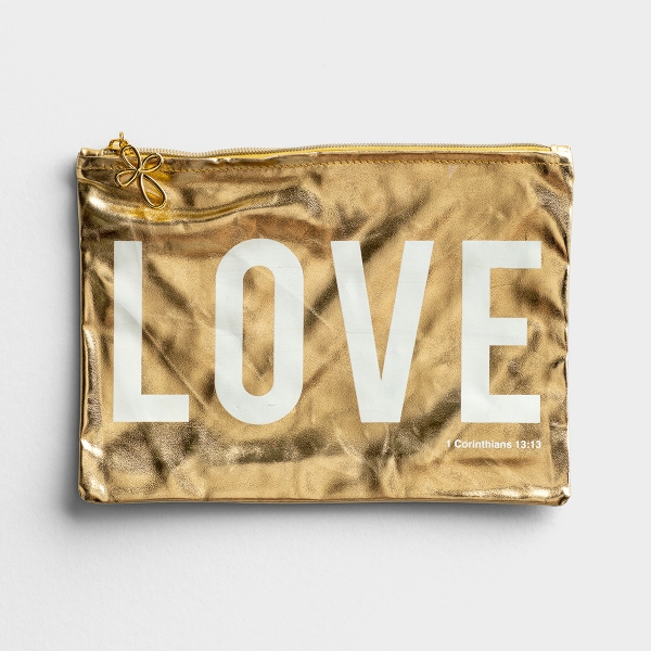 Love - Gold Pouch