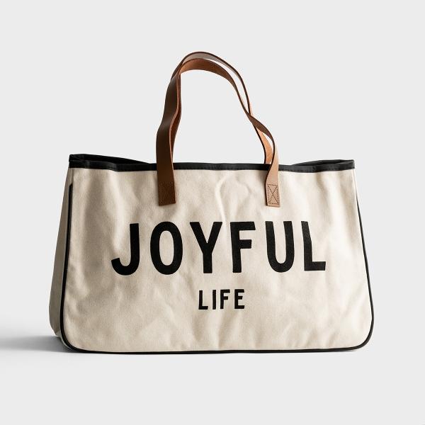 Joyful Life - Canvas Tote Bag