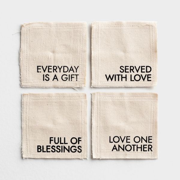 Everyday Is A Gift - Canvas Coasters - Set of 4