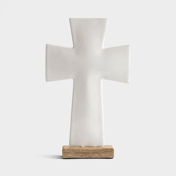 """Enamel Standing Cross - 10"""""""