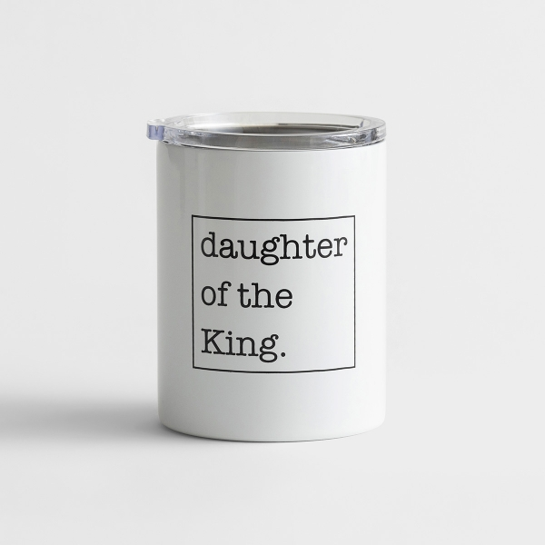 Stainless Steel Coffee Tumbler 12oz - Daughter of the King