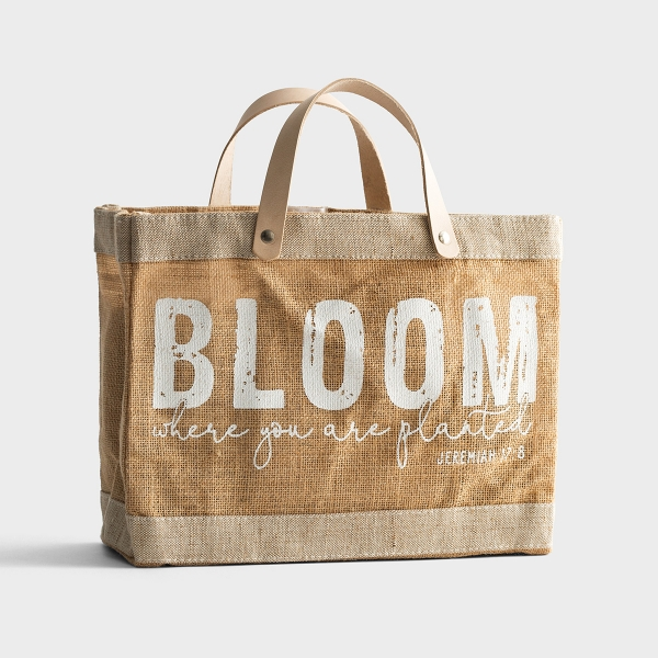 Bloom - Mini Market Jute Tote Bag