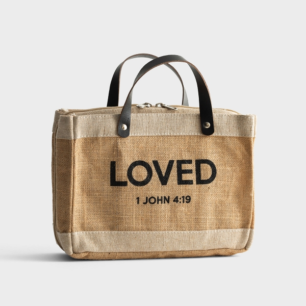 Loved - Bible Cover Tote