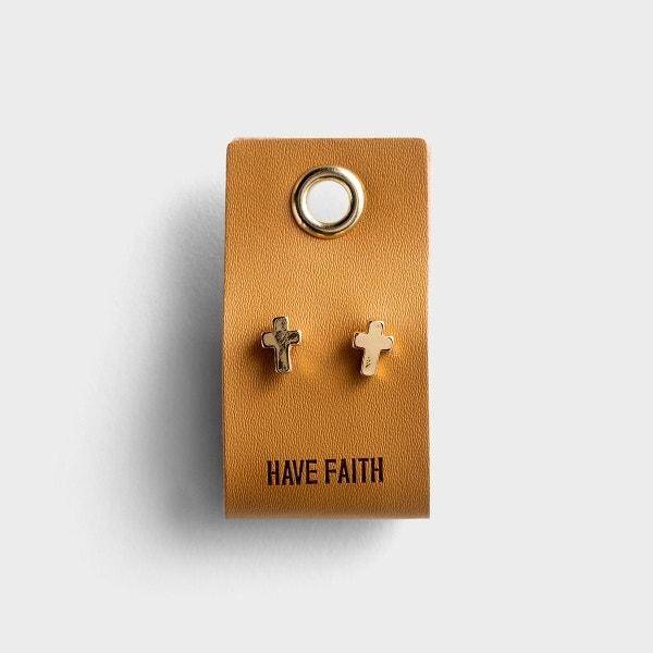 Have Faith - Cross Stud Earrings