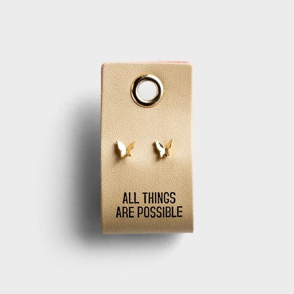All Things Possible - Butterfly Stud Earrings