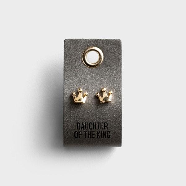 Daughter of the King - Crown Stud Earrings