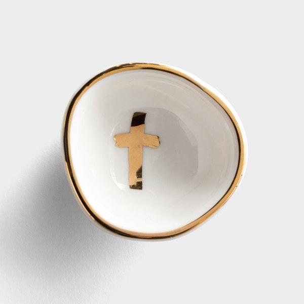Gold Cross - Ring Dish