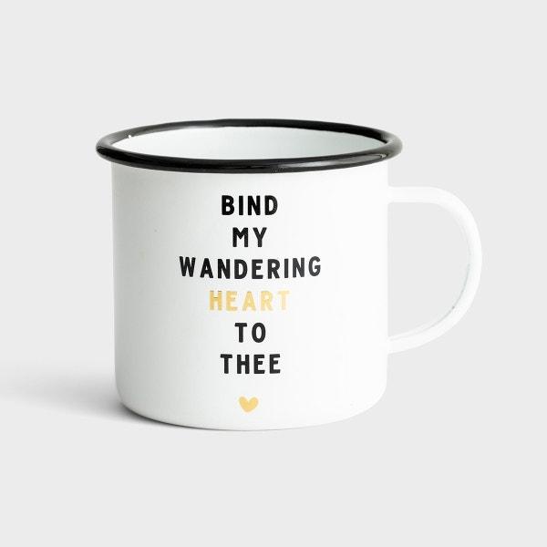 Bind My Wandering Heart to Thee - Enamel Campfire Mug
