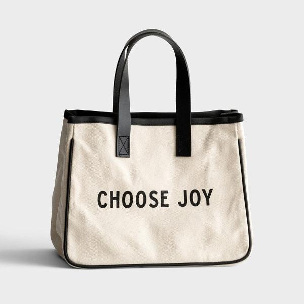 Mini Canvas Tote Bag - Choose Joy