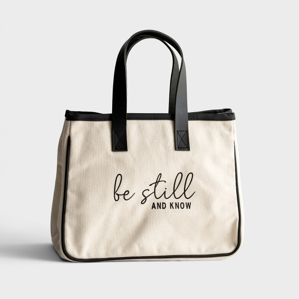 Mini Canvas Tote Bag - Be Still & Know