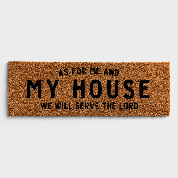 """As For Me & My House - Coir Doormat 30"""" x 10"""""""