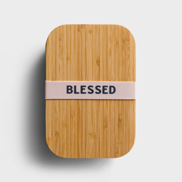 Blessed - Bamboo Lunch Box