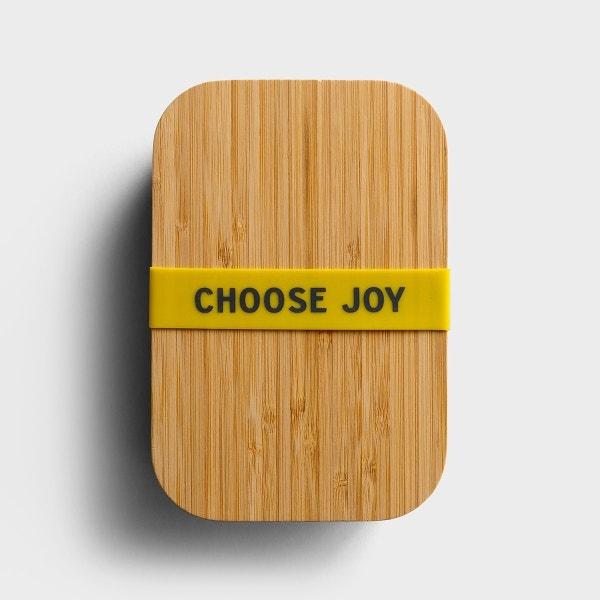 Choose Joy - Bamboo Lunch Box