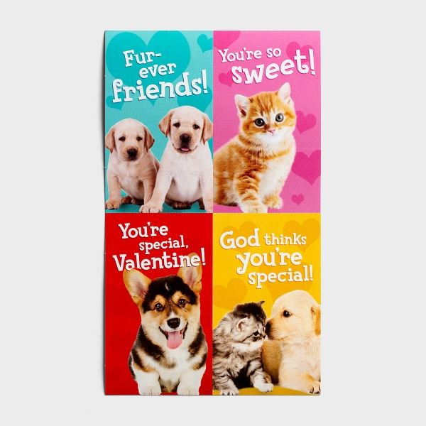 Whiskers & Paws - Children's Valentines - 32 Boxed Cards