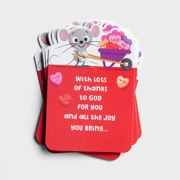 Valentine's Day - Lots of Thanks - 10 Note Cards