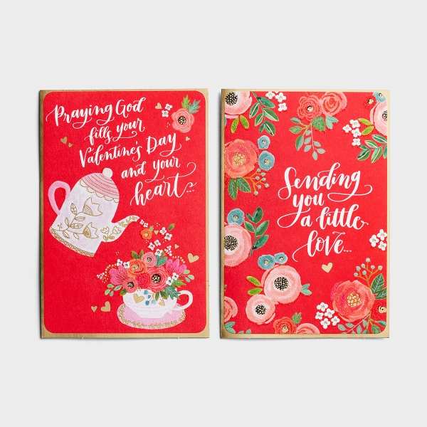 Valentine's Day - A Little Love - 6 Note Cards