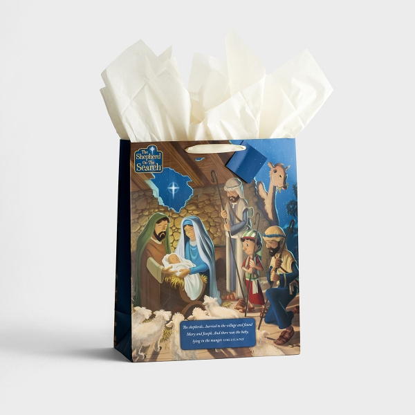 The Shepherd On The Search - Extra Large Christmas Gift Bag