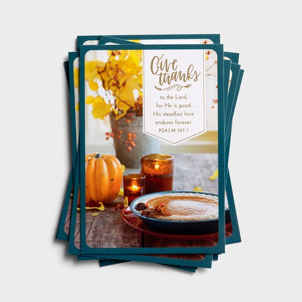 Thanksgiving - Give Thanks - 10 Note Cards