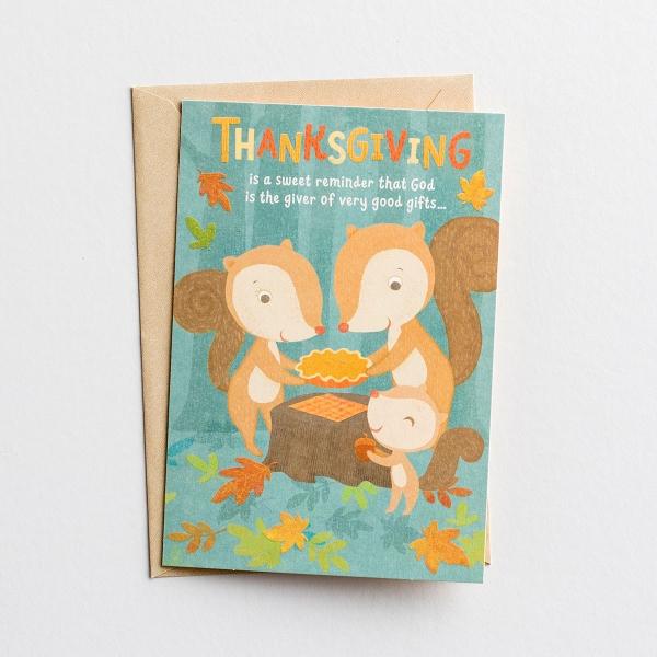 Thanksgiving - Child - Thanksgiving Is a Sweet Reminder - 1 Premium Card