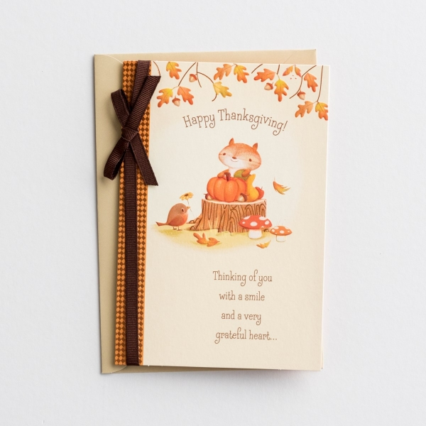 Thanksgiving - Thinking of You - 1 Greeting Card