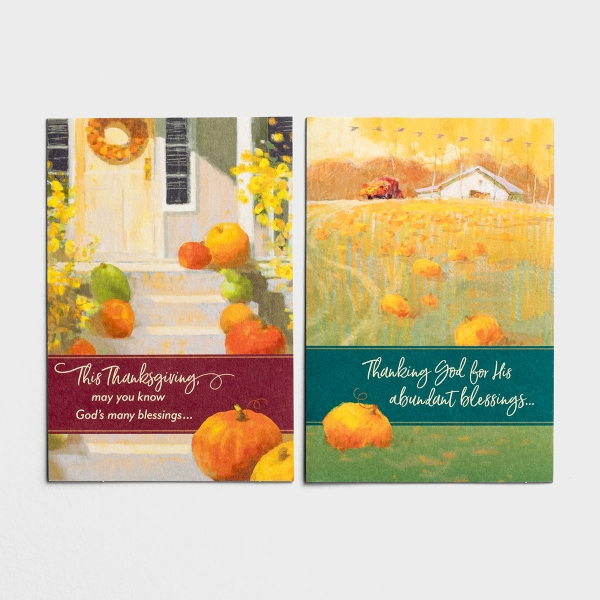 Thanksgiving - Blessings - 6 Note Cards, 2 Designs