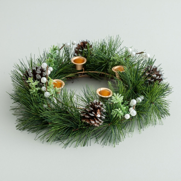 Advent Wreath with Greenery
