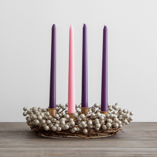 Advent Wreath with Berries/Candles Set