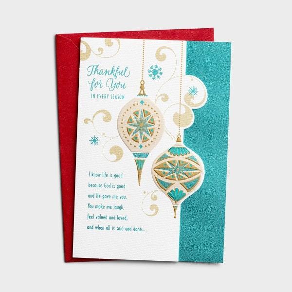 Christmas - One I Love - Thankful - 1 Premium Card