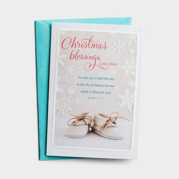 Christmas - Baby's 1st Christmas - Blessings Little One - 1 Premium Card, KJV