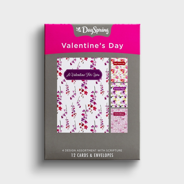 Remind family and friends of how much they are loved with this 'Valentine Floral' Christian Valentine's Day boxed card set from DaySpring. A great way to make someone's day special.