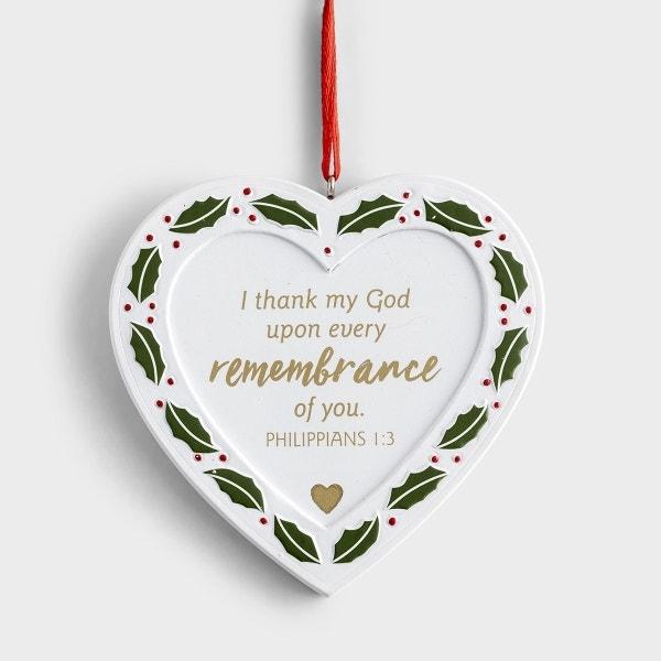 Memorial Heart - Christmas Ornament