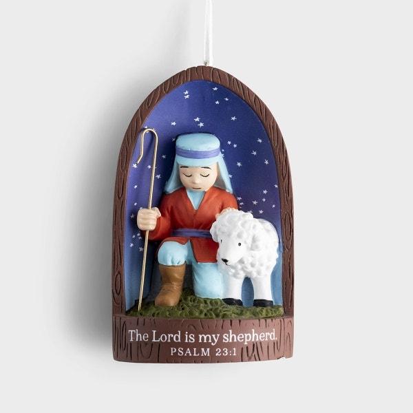 Lord Is My Shepherd - Christmas Ornament