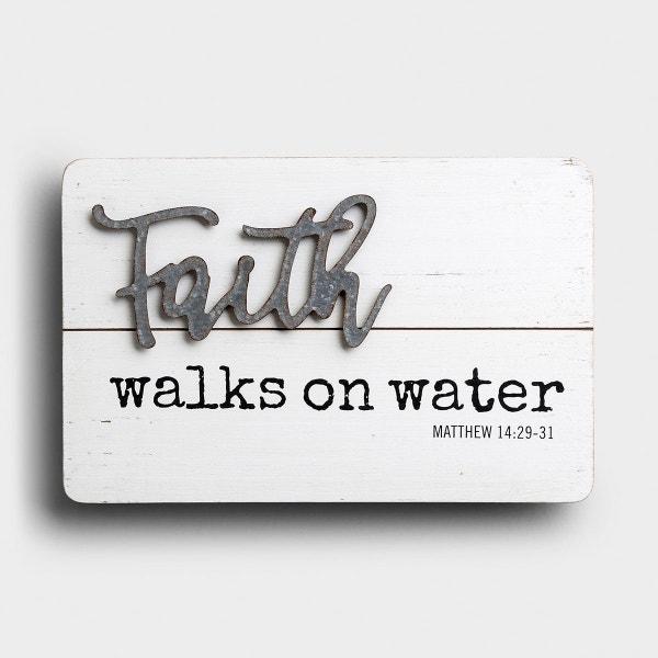 Faith Walks on Water - Wood & Metal Wall Art