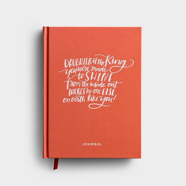 This 'Daughter of the King' book bound Christian journal by DaySpring features insightful quotes and Scripture and provides room to reflect by journaling. Daughter of the King, you were made to shine.