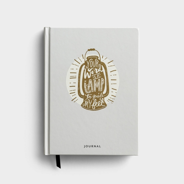 Our 'Your Word Is a Lamp to Guide My Feet' book bound Christian journal features Scripture for your soul and provides plenty of room for journaling personal thoughts, reflections, prayers, additional Bible verses, and more.
