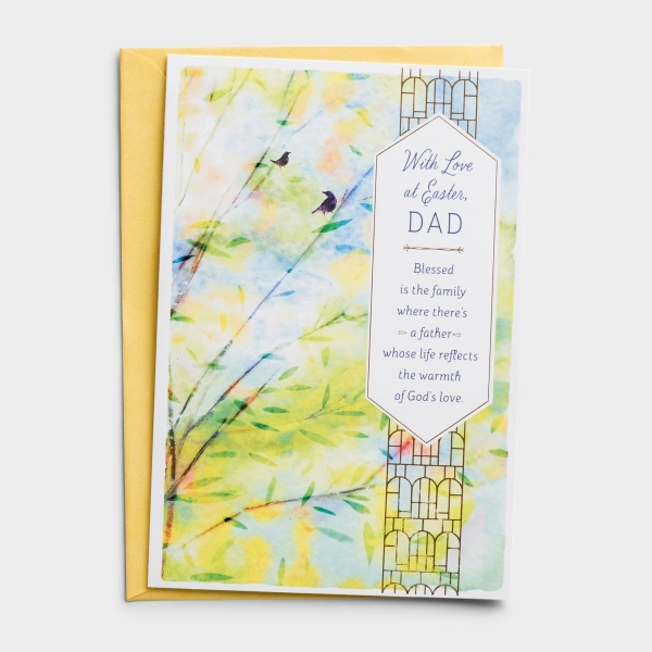 Easter - Dad - With Love - 1 Greeting Card