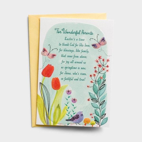 Easter - Wonderful Parents - 1 Greeting Card - KJV