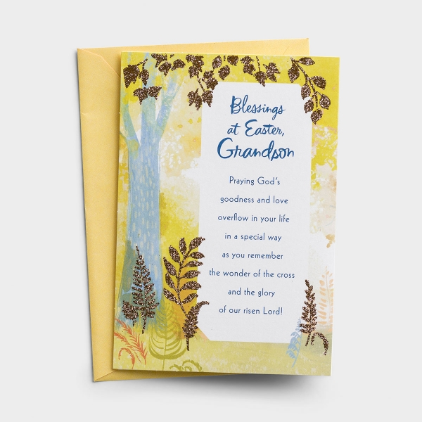 Easter - Grandson - Blessings - 1 Premium Card