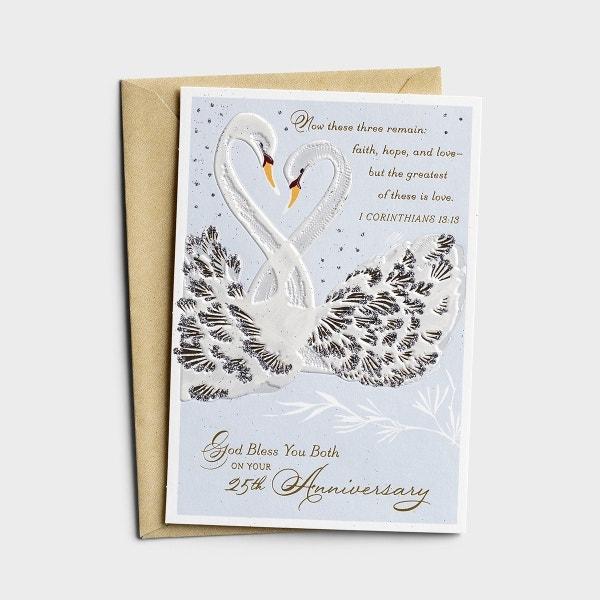 Anniversary - 25th Silver Anniversary - 1 Premium Card