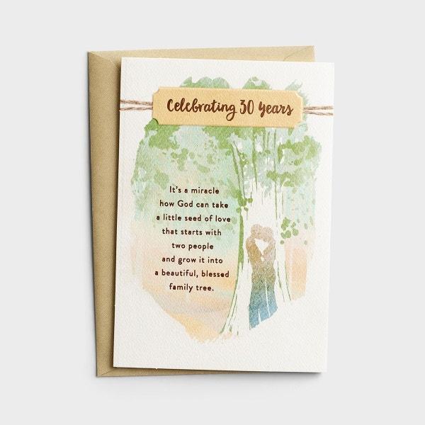 Anniversary - 30th Anniversary - 1 Premium Card