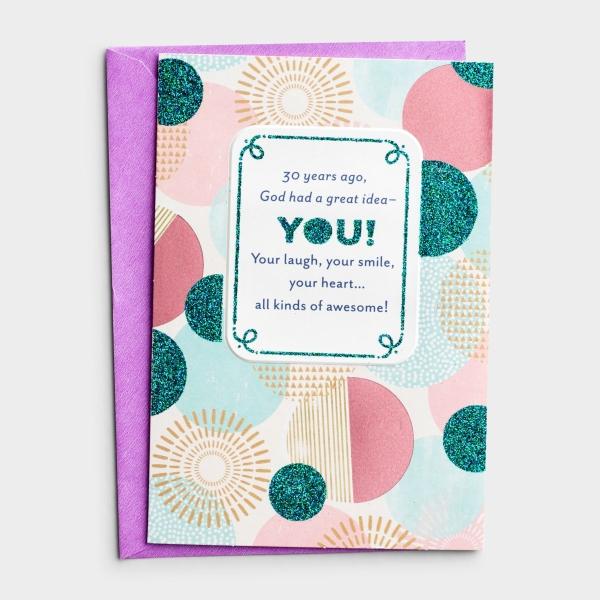 Birthday - 30th - A Great Idea - 1 Greeting Card