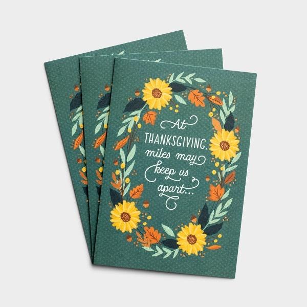 Thanksgiving - Miles Apart - 3 Premium Cards