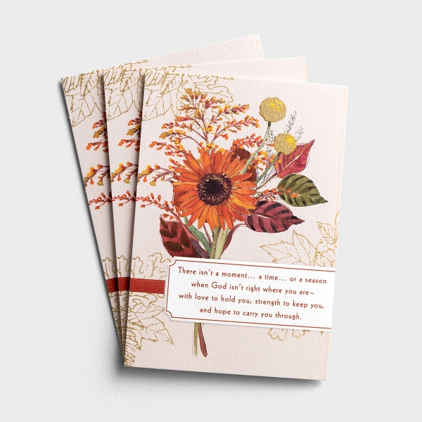 Difficult Thanksgiving - With Love and Prayers - 3 Greeting Cards
