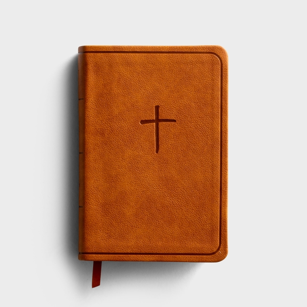 KJV On-the-Go Bible - Ginger Leather Touch