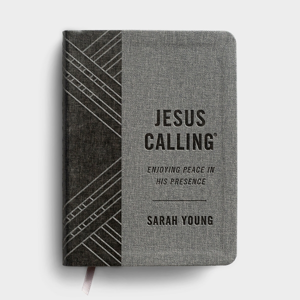 Jesus Calling - Textured Gray Leathersoft Edition with Full Scriptures